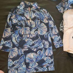 Lilly Pulitzer girls popover dress L